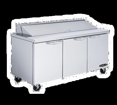 3 Door Sandwich Top Refrigerator By Mvp Group Kst 72 3